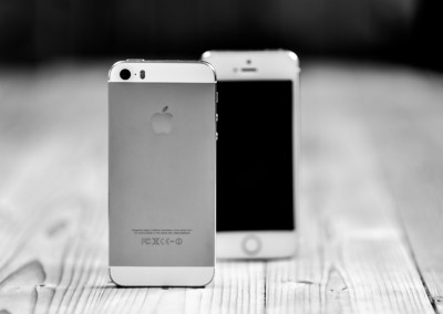 B&W Front And Back Of Gold iPhone 5