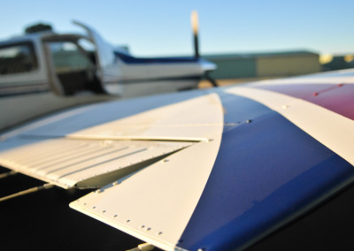 Close Up Of Wing On A Small Plane
