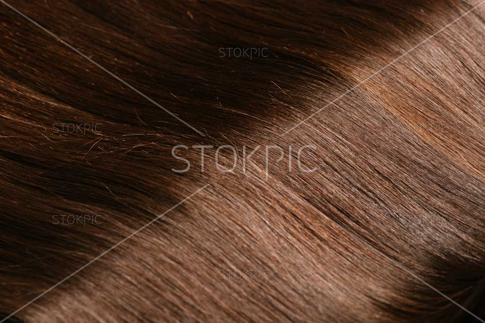 Closeup Of Brown Hair For Beauty