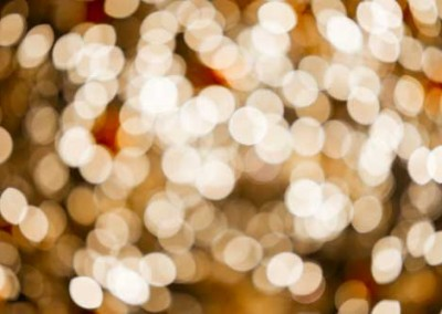 Abstract Christmas Tree Lights Bokeh Blur