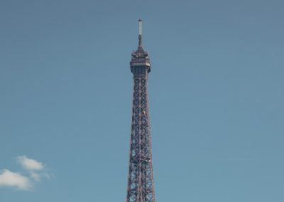 The Eiffel tower on a summers day in Paris